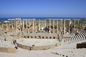 The Roman theatre at Leptis Magna