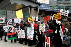The first rally for Libya. Toronto, Feb. 20, 2011