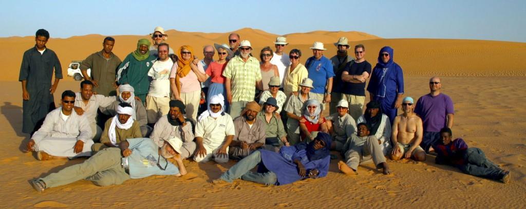 Our Saharan camping group