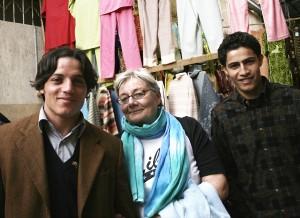 In the Benghazi market: Ahmed, Oksana, Abdul Salam
