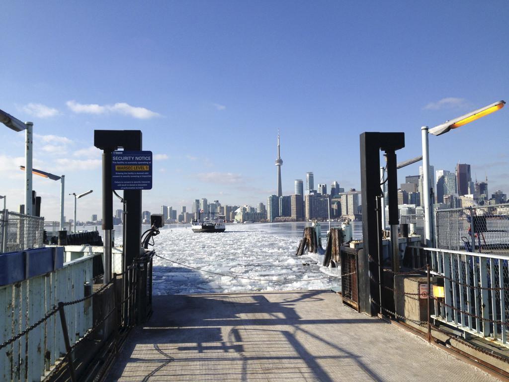 Ferry approaching Ward's Island