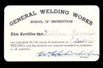 Welding card
