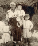 Bill (R) with mother & siblings in Potochyshe, Ukraine